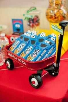 Sesame Street themed 1st birthday party