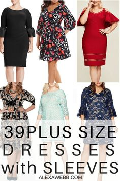 39 Plus Size Spring Wedding Guest Dresses {with Sleeves} - Plus Size Party Dress - alexawebb.com #alexawebb