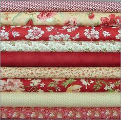 red fabrics, so many ideas come to me just by seeing this!