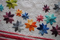 Bloom quilt, made by Denise. Ombre flowers.