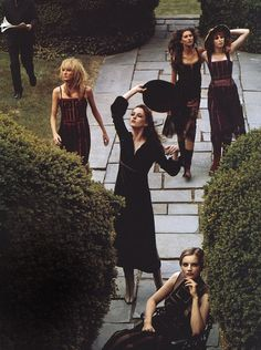 """""""Gilded age"""" by Steven Meisel for Vogue US, featuring some of my favorite '90s models."""