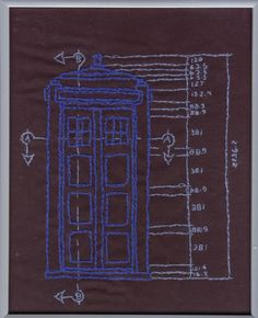 embroidered TARDIS [Doctor Who]
