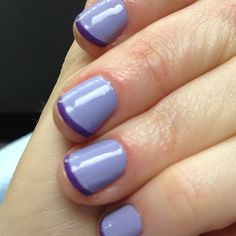 Love this take on the french manicure!