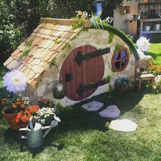 Last week's project: Hobbit Hole Playhouse.  @homeandfamilytv