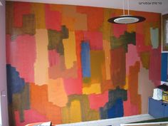 Abstract colorful painting Acrylic on concrete wall w400cm h 280cm 2008