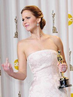 Ah, Jennifer Lawrence, please don't ever change.