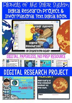 Looking for an engaging project for your students to conduct research about the planets, while using Google Slides? This digital, paperless resource includes two projects about the planets in the solar system, for a total of 35 Google slides.