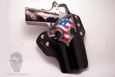 Gun & Leather Holster ... stars & stripes. I'm typically a plain holster guy but I like this one.