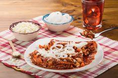 Enchiladas Potosinas, Pulled Pork, Ethnic Recipes, Food, Easy Recipes, Deserts, Cooking, Shredded Pork, Essen