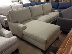 """""""Janna"""" Sofa/Chaise Sectional - Every style can be customized in virtually any way possible!  www.MonarchSofas.com More custom pieces on our Houzz profile! http://www.houzz.com/pro/thesofaworks/monarch-sofas"""