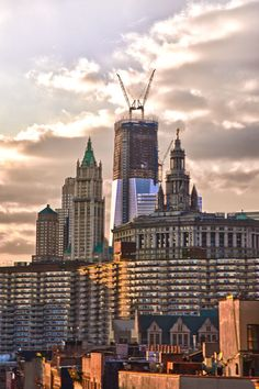 Freedom Tower Construction and Lower Manhattan, New York City