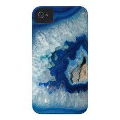 Sapphire Blue Agate Geode iPhone 4 case