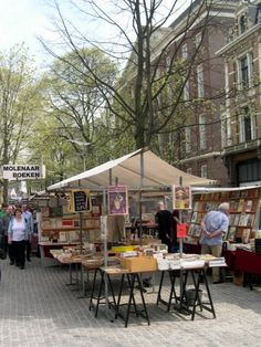 Boekenmarkt in Amsterdam