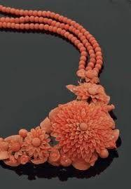 collier corail rouge baroque - Recherche Google