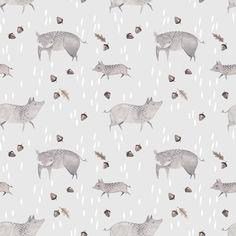 Wild pigs and acorns by Julianna Swaney