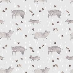 Foraging piggies by Julianna Swaney