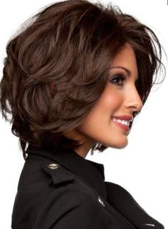 short bob for thick hair
