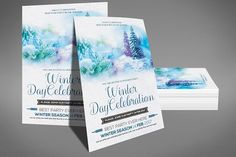 Winter Party / Festival Flyer  @creativework247