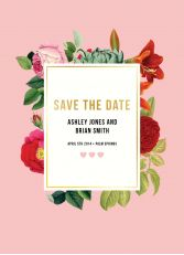 Botanical Save The Date by Daydream Prints