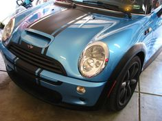 Click the image to open in full size. Mini Cooper Stripes, John Cooper Works, Mini Coopers, Stripes Design, Beetle, Blue Stripes, Rally, Garage, Bmw