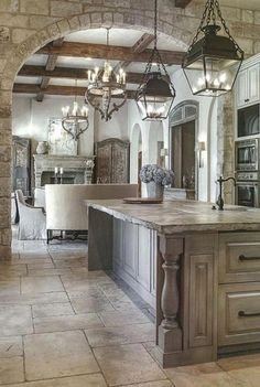 Modern French Country Kitchen design Inspirations Source by beckykeithandka Modern French Country, French Country Kitchens, French Country Bedrooms, French Country House, French Country Decorating, Modern French Kitchen, Country Houses, French Cottage, Modern French Decor