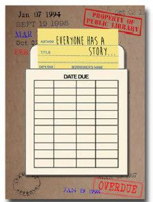 Library Card Everyone Has a Story notebook #book-lover #gift-for-book-lover #gifts-for-book-lover