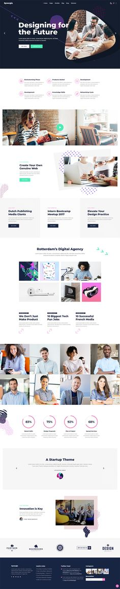 Launch a beautiful and professional website for your startup with Synergia WordPress theme!  #wordpress #webdesign #theme #layout #template #digital #startup #agency #app #software #technology #landingpage