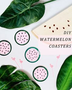 Pin for Later: 21 DIY Holiday Gifts That Won't Break the Bank, but Sure Look Like They Did  Watermelon Coasters