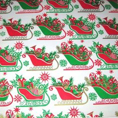 Vintage Christmas Wrapping Paper or Gift Wrap by grandmothersattic, $5.95
