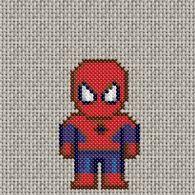 08/08/2010 : grille de point de croix gratuite - Spiderman