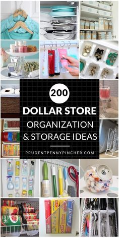 200 DIY Dollar Store Organization and Storage Ideas. 200 Dollar Store DIY Organization Ideas Spring cleaning just got a whole lot cheaper! Organize for less with these creative dollar store organization and storage ideas Dollar Store Organization, Dollar Store Hacks, Dollar Store Crafts, Pantry Organization, Dollar Stores, Organization Ideas For The Home, Dollar Dollar, Teen Room Organization, Craft Room Ideas On A Budget