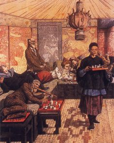 "This opium den scene inspired the ""dark den in the docks"" in Fearless. It all looks rather lush really!"