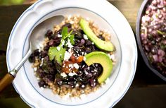 Sorghum Bowl With Black Beans, Amaranth, and Avocado via @domainehome