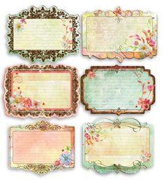 free vintage printables - will definitely use Vintage Tags, Vintage Labels, Vintage Ephemera, Vintage Paper, Printable Labels, Printable Paper, Free Printables, Etiquette Vintage, Journal Cards