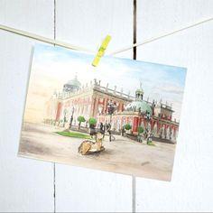 Postkarte - Das Reh am Neuen Palais