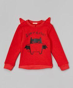 Look what I found on #zulily! Orange 'Surprise' Crewneck Sweatshirt - Infant, Toddler & Kids by Leighton Alexander #zulilyfinds