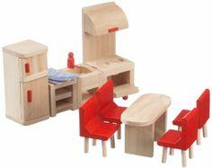 Beeboo 32302 - Muebles de cocina de madera para casa de muñecas: Amazon.es: Juguetes y juegos