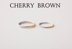 マリッジリング 『CHERRY BROWN』   WEDDING GIFT SERVICE   SPIRAL WEB