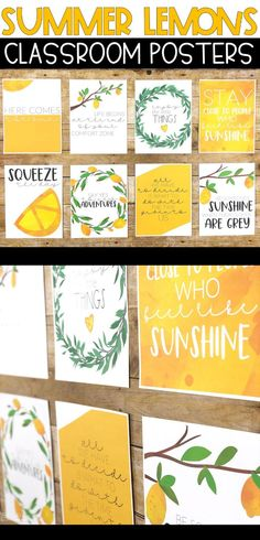 These fun lemon printables will make your classroom or home pop with fun yellow color! They make for an easy lemon themed bulletin board or display in your home! Click to see all 8 included!
