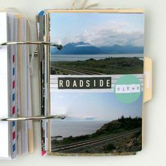 We love this #DIY idea of creating a scrapbook of your travels from Saturday Morning Vintage.