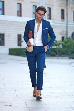 Blue Suit Men Blazer Wedding Groom Men Suit With Pants Terno Tuxedo Smart Casual Street terno Slim Fit Jacket Costume Homme Mens Fashion Blog, Mens Fashion Suits, Mens Suits, Men's Fashion, Fashion Sale, Fashion Outlet, Paris Fashion, Runway Fashion, Fashion Guide