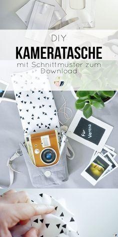 Super easy Tutorial mit Schnittmuster zum Download für eine selbstgenähte Kameratasche! Die Anleitung ist absolut für Anfänger geeignet und macht sich super als Geschenkidee für den Lieblingsmenschen. Die Kameratasche ist maßgeschneidert für die LOMO Instant Sofortbildkamera.