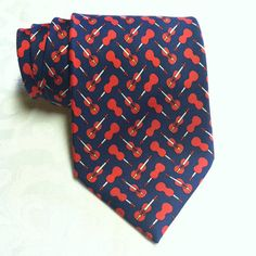 Hermes Paris Red Necktie with Ladybugs Made in France 100% Silk – Center Street Tie Makers
