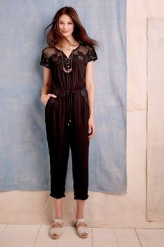 Laced Ravanna Jumpsuit by Lilka #anthrofave #anthropologie