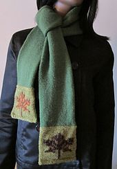 Ravelry: Maple Leaves Scarf pattern by Andrea Henry #knitindie