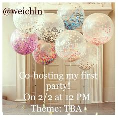 PARTY TIME 2/2 at 12 PM, theme TBA I'm co-hosting my first posh party I'm so excited! Let's party ladies! I will be checking out closets for host picksThe theme is TBA. Other