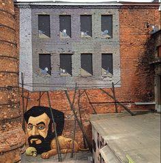 ALEKSEY KISLOW * Ukrainian * surrealist street artist **  St.Petersburg ~ Russia ~ 2014