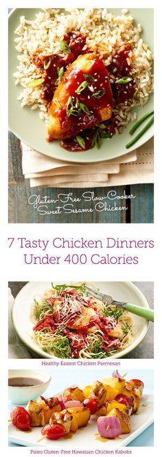 7 Chicken Dinner #recipes Under 400 Calories