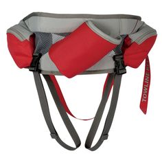 Omnijore Hipbelt for Dogs - Red Currant  | The Ruffwear Omnijore Hipbelt is the ideal restraint system for outdoor use! Great for skijoring, mountainboard-joring, skatejoring, bikejoring, or canicross, unique design allows for hands-free control! The innovative construction features load dispersing design and 180 degrees of tow direction. Includes towline release for quick release and removable leg loops to keep the hipbelt securely in place.