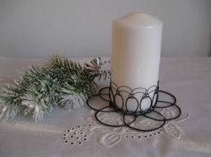 Candels, Pillar Candles, Copper Wire Art, March Crafts, Wire Jig, Jewelry Boards, Wire Crafts, Beads And Wire, Handmade Decorations